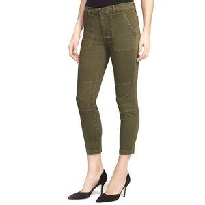 VINCE Military Rolled Trouser Pants in Forest